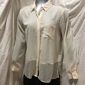 Ivory buttoned down blouse